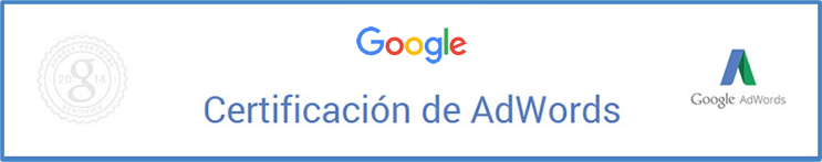 Socio certificado adwords